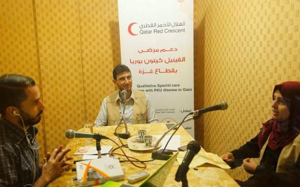 حلقتان إذاعيتين في قطاع غزة للحديث عن مرض الفينيل كيتون يوريا