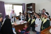 قام فريق الصحة من مدرسة الشيخ عجلين بزيارة لمركز عيادات غزة التابع لجمعية أرض الانسان