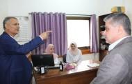 استقبل الدكتور/ عدنان الوحيدى المدير التنفيذى لجمعية أرض الانسان الفلسطينية الخيرية وفد من مؤسسة وكالة التنمية السويسرية SDC