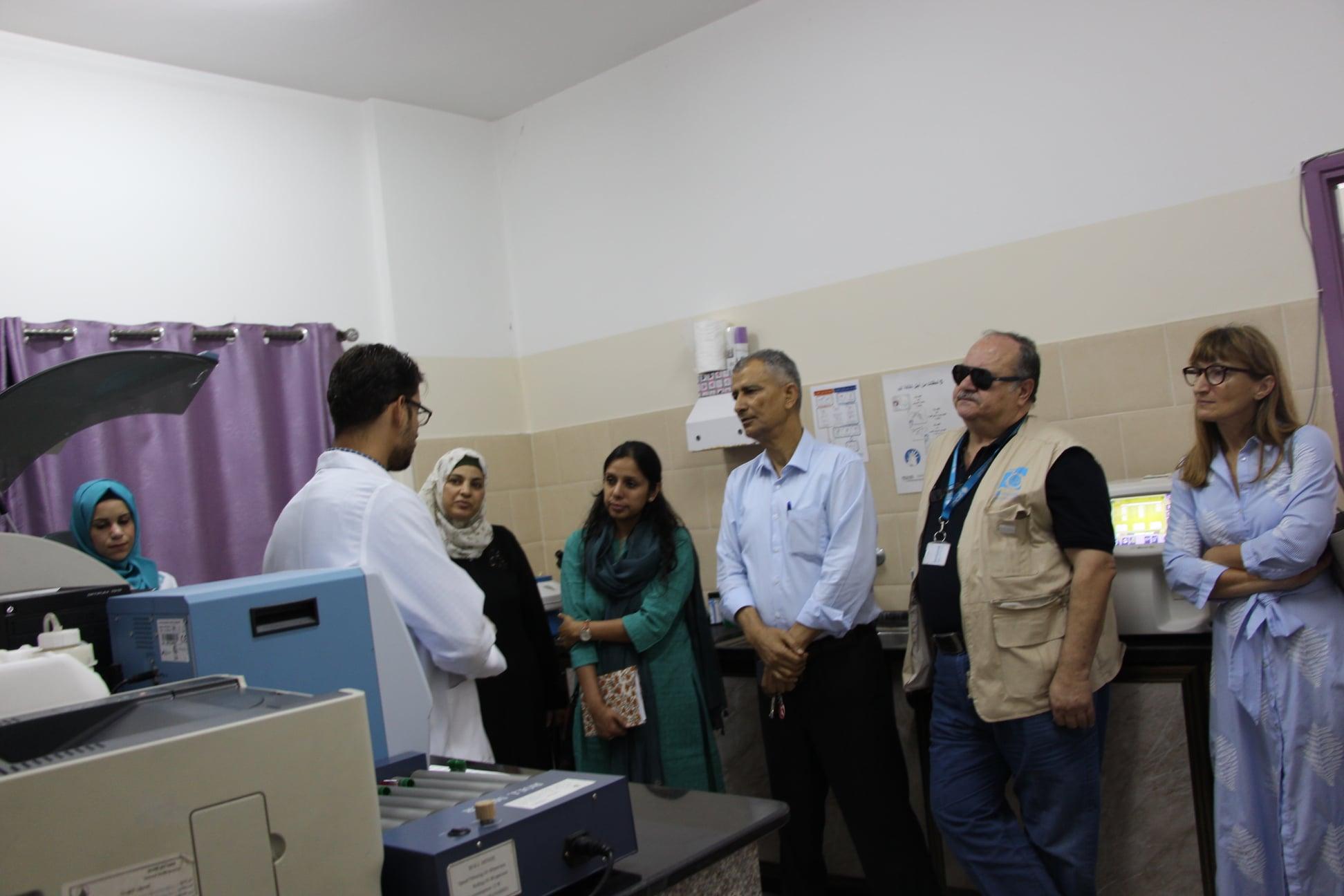 خلال أسابيع من زيارة سابقة مؤسسة اليونيسف تزور مركز جمعية ارض الانسان الفلسطينية
