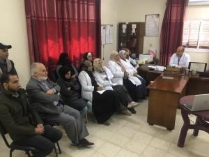 ورشة عمل توعوية خاصة لموظفى مركزى عيادات غزة وخانيونيس حول مرض فيروس كورنا المسمى كوفيد 19