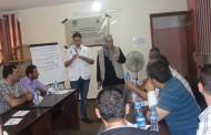 فريق جمعية أرض الإنسان الفلسطينية الخيرية يعقد دورات تدريبية