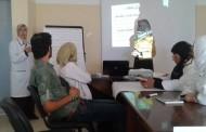 The 2nd day of the workshop training for team Ard Elinsan palestinian Benvolent Association ((khanYunis center)
