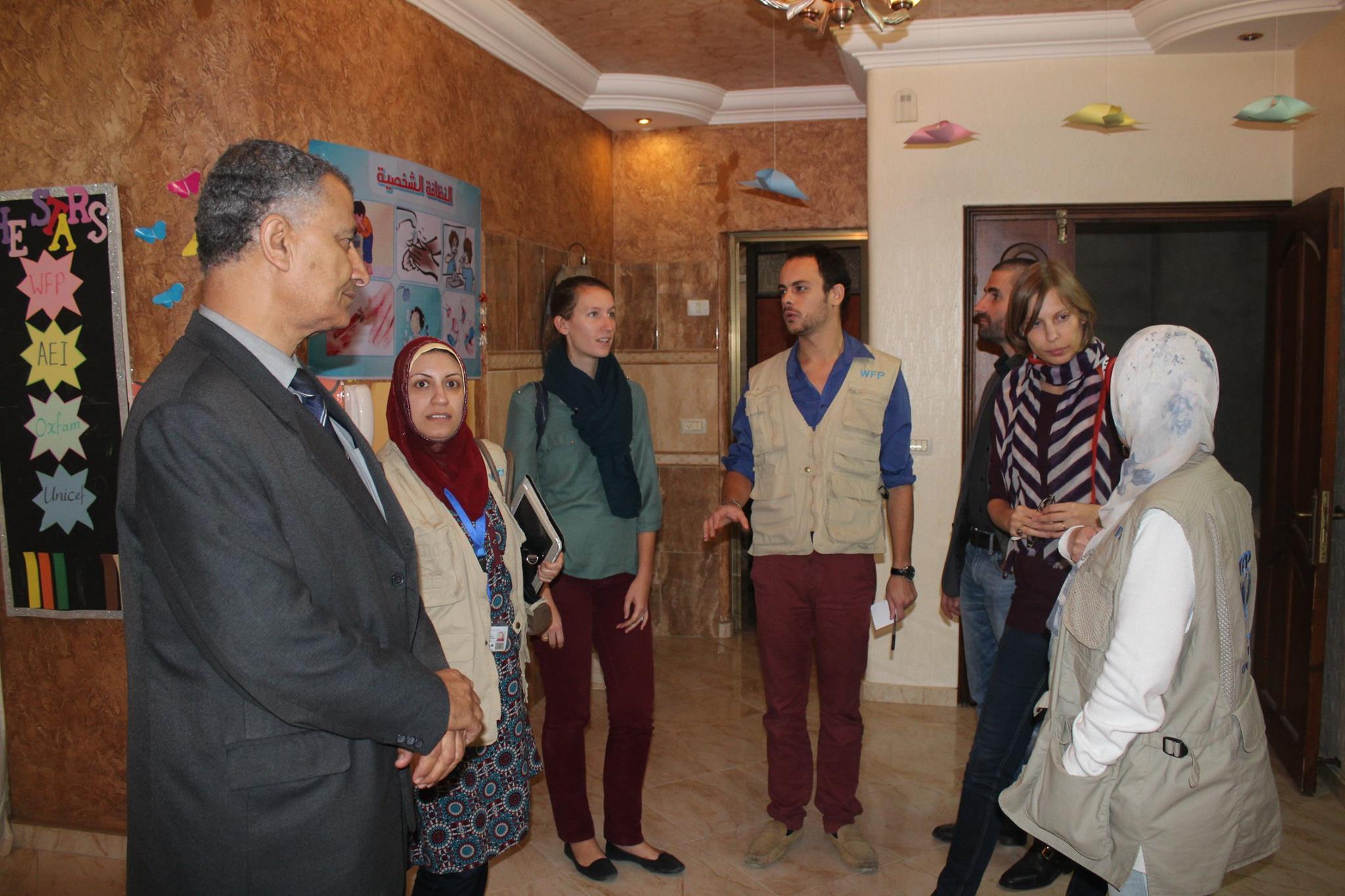 #زيارة وفد فرنسى ووفد من برنامج الأغذية العالمي في فلسطين WFP