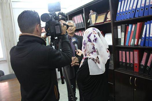 إستقبلت جمعية أرض الإنسان فى مقرها بمدينة غزة وفداَ صحفياَ من وكالة الأناضول التركية