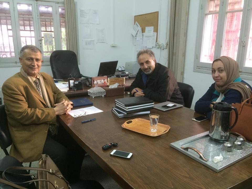 """المدير التنفيذى لجمعية أرض الإنسان الفلسطينية الخيرية يجتمع فى لقاء مطول مع البروفيسور الأمريكي من أصل فلسطيني """"جيسي غنَّام"""""""