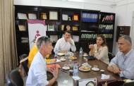 زيارة وفد من برنامج الأغذية العالمى WFP لجمعية أرض الإنسان