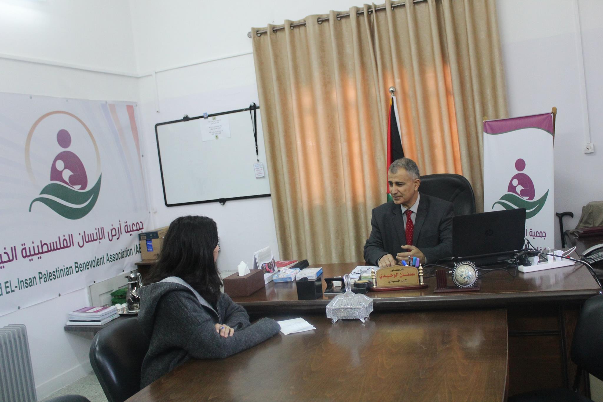 مقابلة تلفزيونية مع تلفزيون فلسطين
