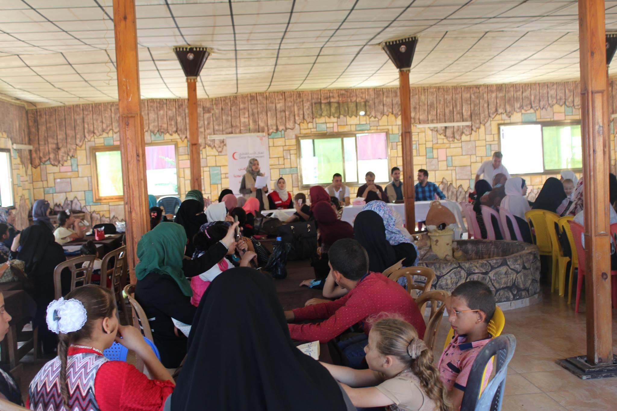 """يوم ترفيهى لمرضى التبول الفينولى من خلال مشروع """" دعم مرضى التبول الفينولى فى قطاع غزة """""""