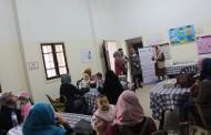 زيارة ممثلة مؤسسة العون الإسلامى بريطانيا فى غزة الى مركزعيادة جمعية ارض الانسان الفلسطينية بغزة